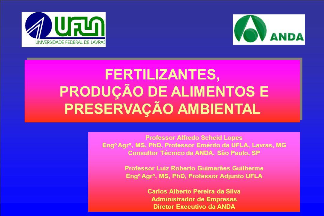 Professor Alfredo Scheid Lopes Eng o Agr o, MS, PhD, Professor Emérito da UFLA, Lavras, MG Consultor Técnico da ANDA, São Paulo, SP Professor Luiz Rob