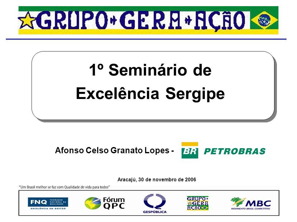 1º Seminário de Excelência Sergipe Aracajú, 30 de novembro de 2006 Afonso Celso Granato Lopes -