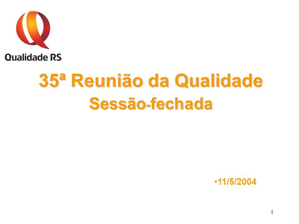 1 35ª Reunião da Qualidade Sessão - fechada 11/5/2004