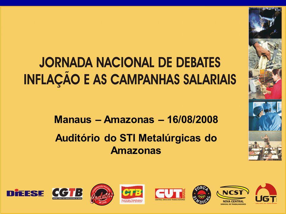 Manaus – Amazonas – 16/08/2008 Auditório do STI Metalúrgicas do Amazonas