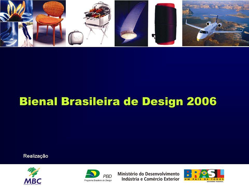 A Bienal Brasileira de Design Ministério do Desenvolvimento, Indústria e Comércio Exterior – MDIC é uma realização do Ministério do Desenvolvimento, Indústria e Comércio Exterior – MDIC e do Movimento Brasil Competitivo - MBC