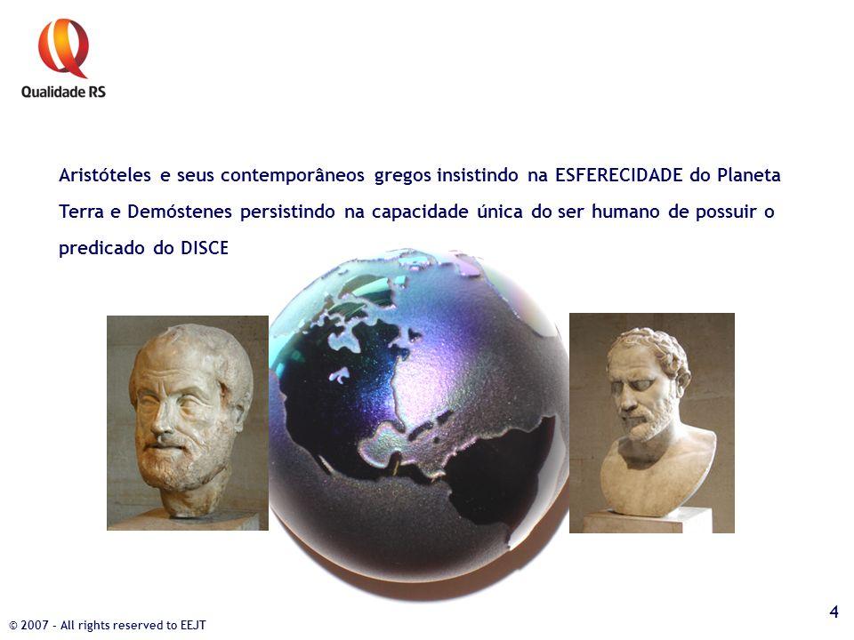 Aristóteles e seus contemporâneos gregos insistindo na ESFERECIDADE do Planeta Terra e Demóstenes persistindo na capacidade única do ser humano de pos