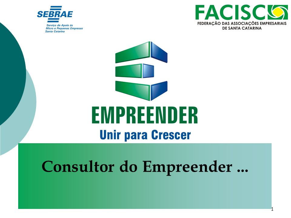 1 Consultor do Empreender...