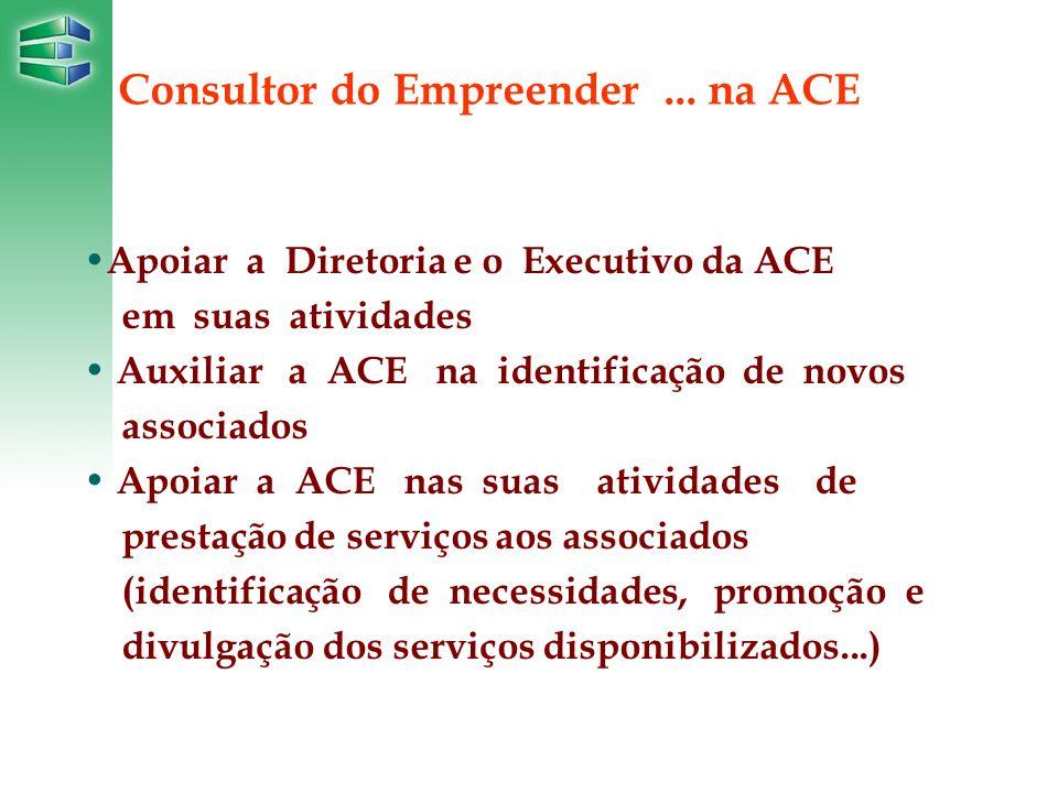 ... na ACE Apoiar a Diretoria e o Executivo da ACE em suas atividades Auxiliar a ACE na identificação de novos associados Apoiar a ACE nas suas ativid