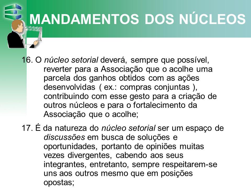 MANDAMENTOS DOS NÚCLEOS 16.