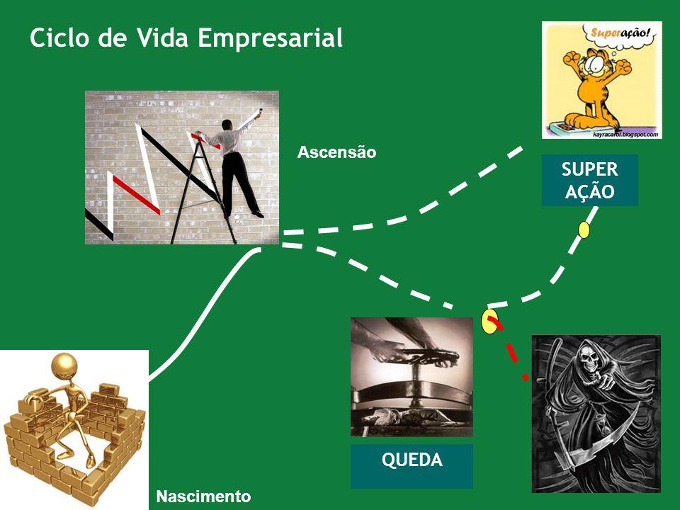 Ciclo de Vida Empresarial QUEDA SUPER AÇÃO Ascensão Nascimento