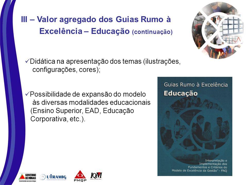 IV – Processos de Elaboração e Disseminação dos Guias - Educação