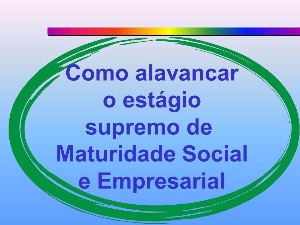 Como alavancar o estágio supremo de Maturidade Social e Empresarial