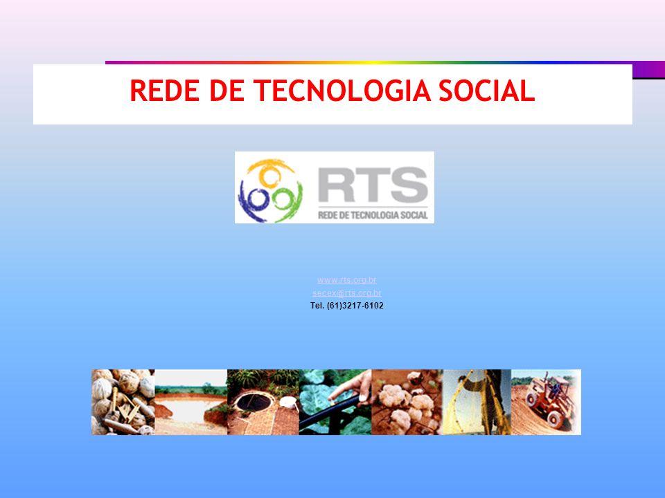 REDE DE TECNOLOGIA SOCIAL www.rts.org.br secex@rts.org.br www.rts.org.br secex@rts.org.br Tel. (61)3217-6102