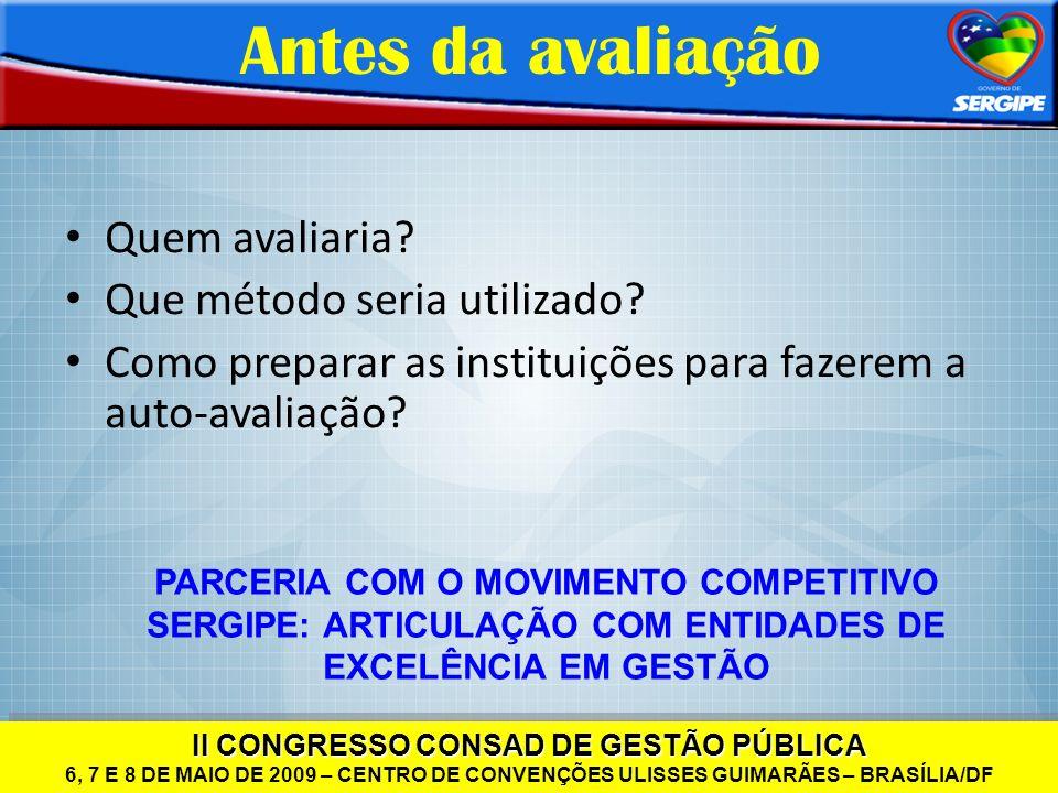 II CONGRESSO CONSAD DE GESTÃO PÚBLICA 6, 7 E 8 DE MAIO DE 2009 – CENTRO DE CONVENÇÕES ULISSES GUIMARÃES – BRASÍLIA/DF II CONGRESSO CONSAD DE GESTÃO PÚ