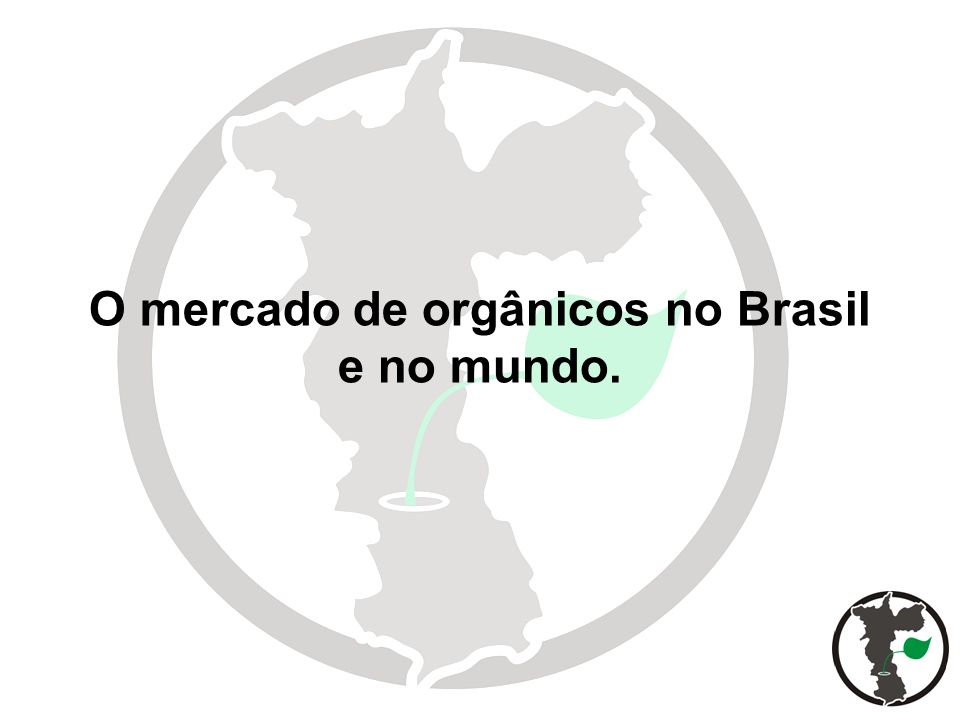 Distribuição da produção de orgânicos no mundo.