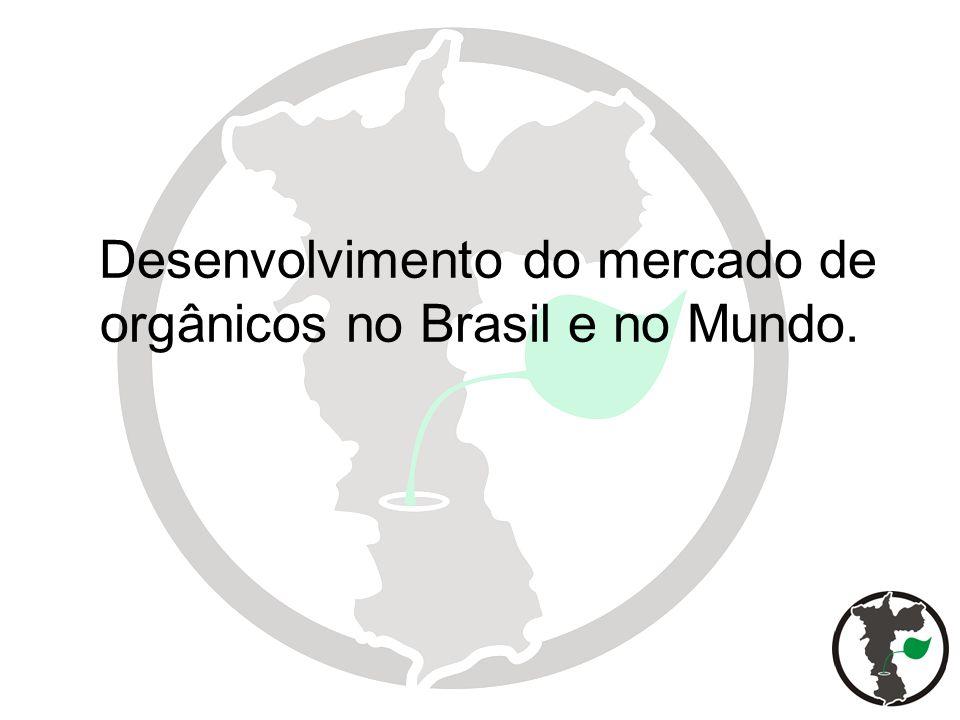No mundo o comercio de orgânicos movimenta cerca de US$ 100 Bilhões por ano em 100 países.