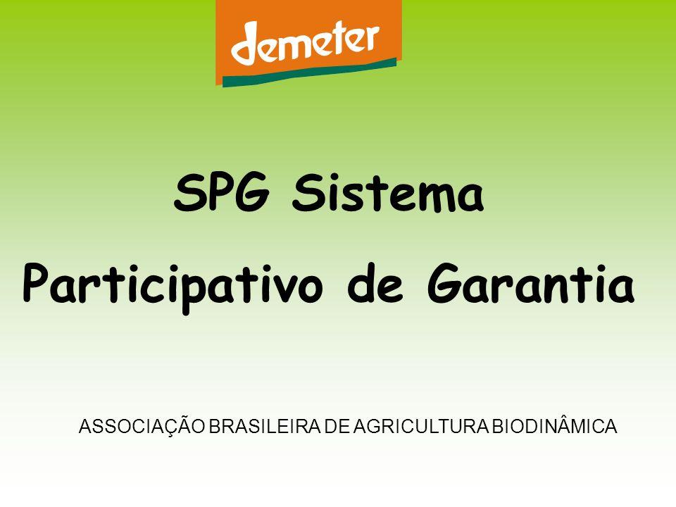 SPG Sistema Participativo de Garantia ASSOCIAÇÃO BRASILEIRA DE AGRICULTURA BIODINÂMICA