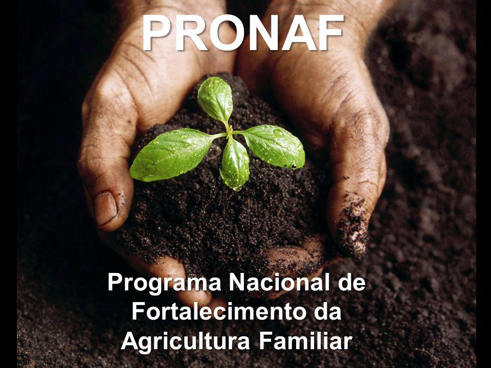 HISTÓRICO DO PRONAF 1995 – Instituição do Programa Nacional de Fortalecimento da Agricultura Familiar (Pronaf) pela resolução CMN – Bacen nr.
