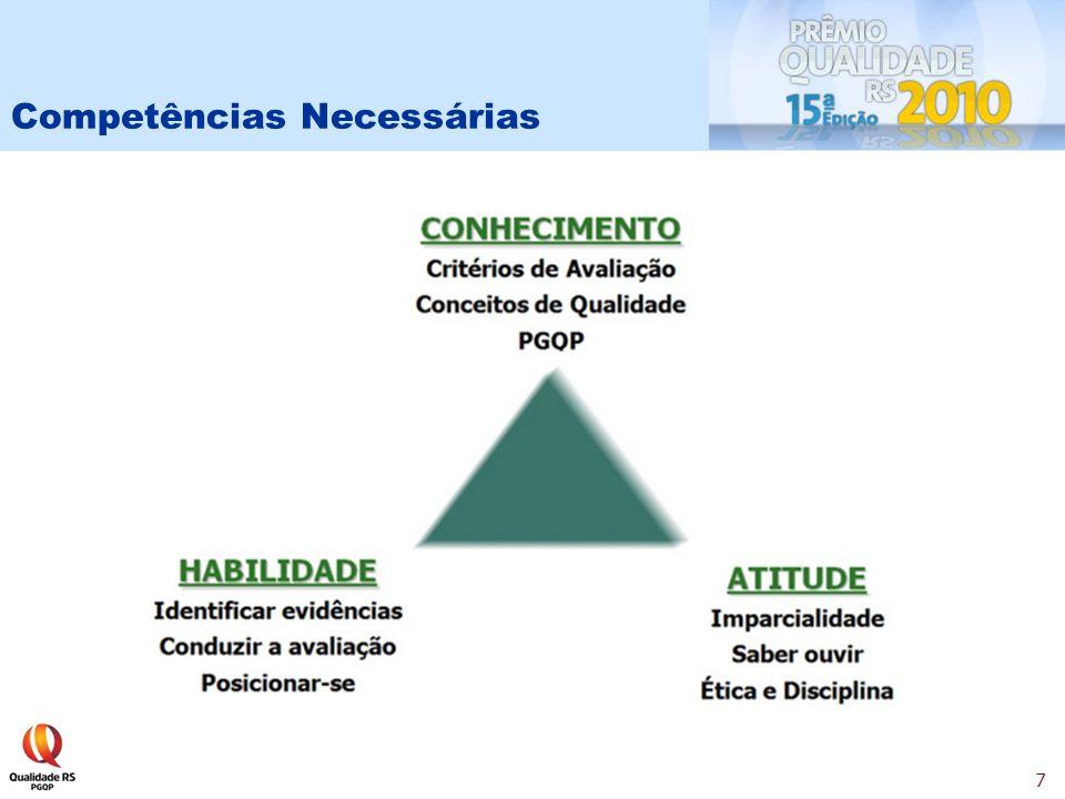 8 Você precisa conhecer e dominar os 8 Critérios de Avaliação: * Liderança * Estratégias e Planos * Clientes * Sociedade * Informações e Conhecimento * Pessoas * Processos * Resultados