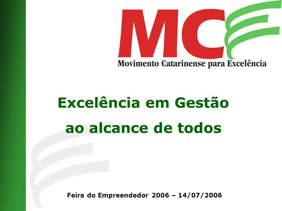 Excelência em Gestão ao alcance de todos Feira do Empreendedor 2006 – 14/07/2006
