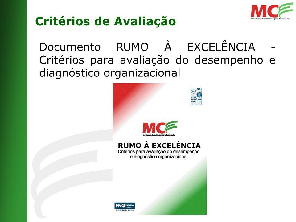 Critérios de Avaliação Documento RUMO À EXCELÊNCIA - Critérios para avaliação do desempenho e diagnóstico organizacional