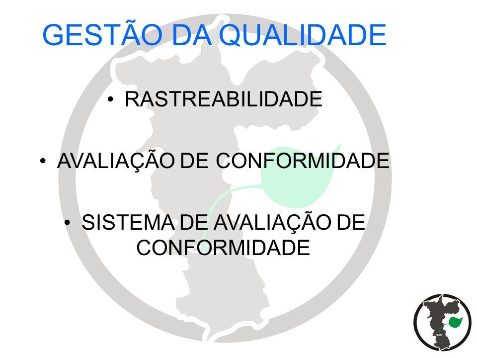 GESTÃO DA QUALIDADE RASTREABILIDADE AVALIAÇÃO DE CONFORMIDADE SISTEMA DE AVALIAÇÃO DE CONFORMIDADE