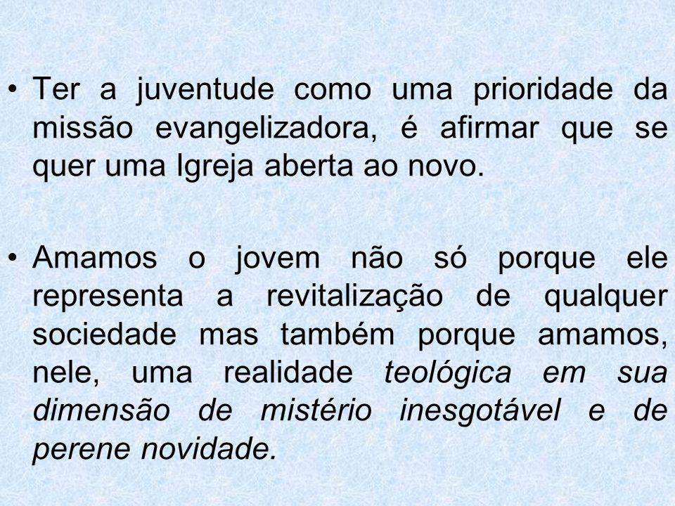 O Episcopado Brasileiro ressalta: Cuidado particular merecem os jovens, considerando-se a situação que encontram na sociedade de hoje.