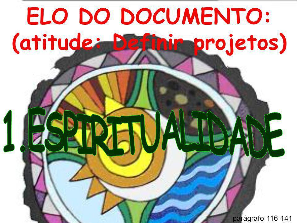 ELO DO DOCUMENTO: (atitude: Definir projetos) parágrafo 116-141