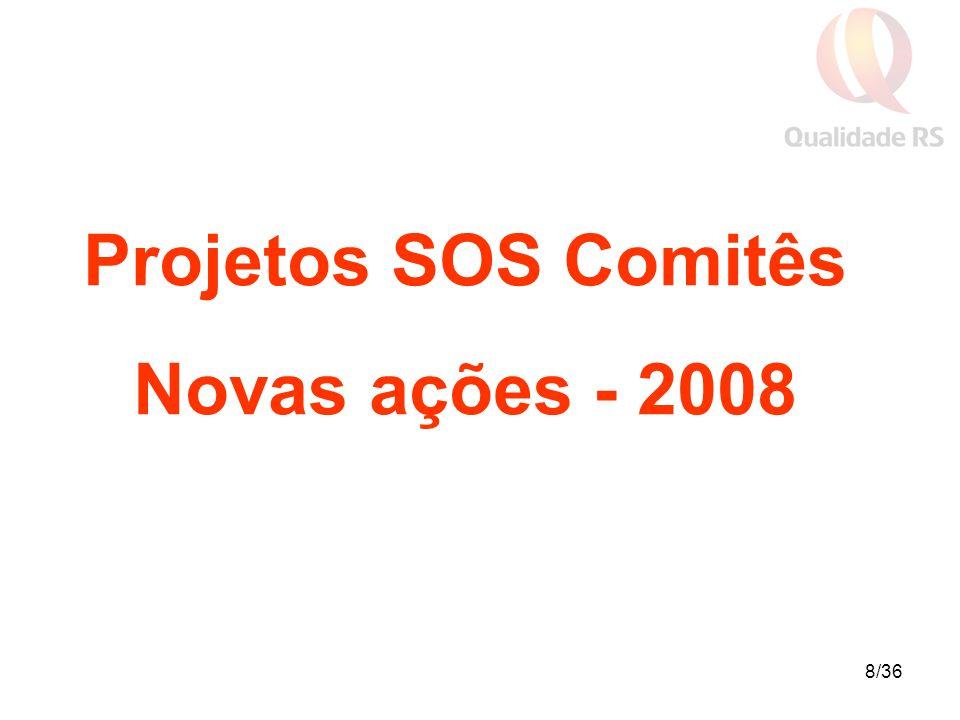 8/36 Projetos SOS Comitês Novas ações - 2008