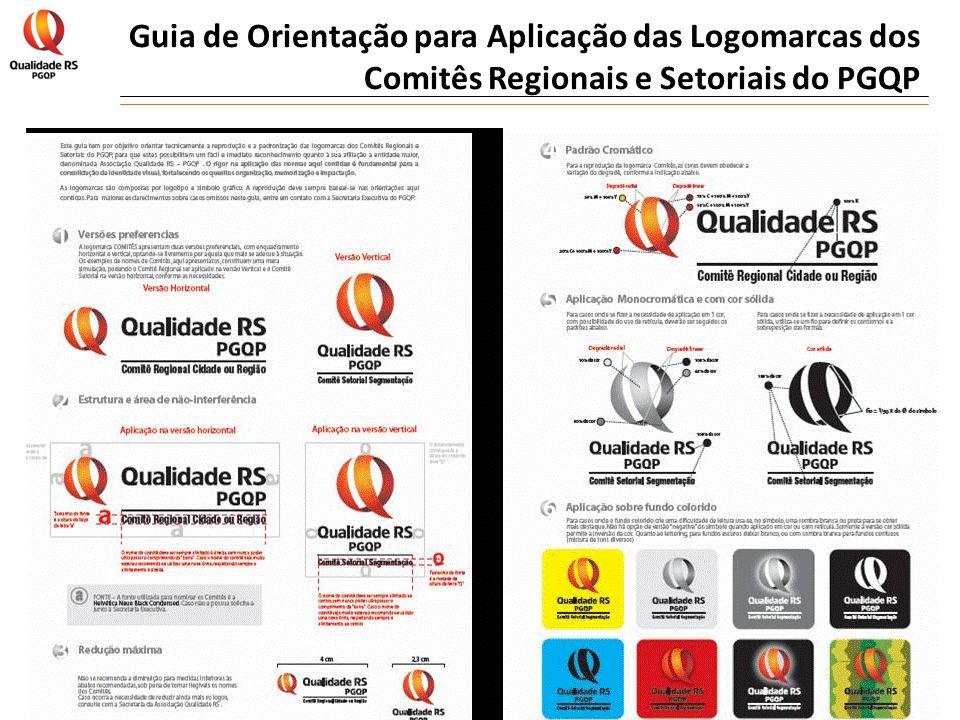 Guia de Orientação para Aplicação das Logomarcas dos Comitês Regionais e Setoriais do PGQP