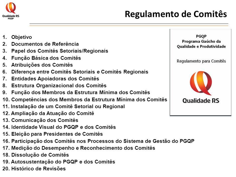 Regulamento de Comitês 1. Objetivo 2.Documentos de Referência 3.Papel dos Comitês Setoriais/Regionais 4.Função Básica dos Comitês 5.Atribuições dos Co