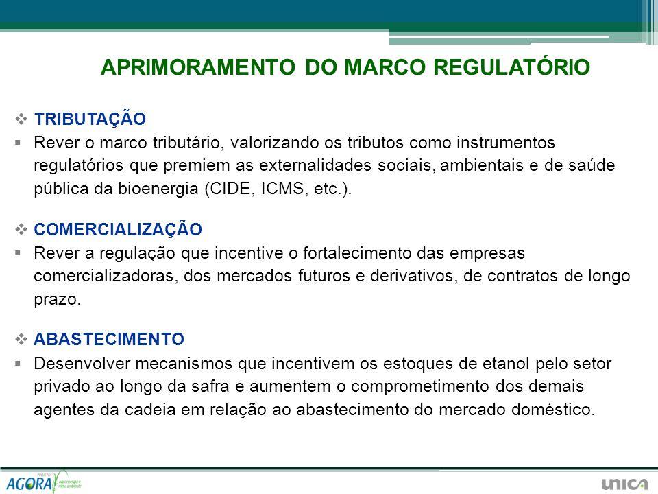 TRIBUTAÇÃO Rever o marco tributário, valorizando os tributos como instrumentos regulatórios que premiem as externalidades sociais, ambientais e de saú