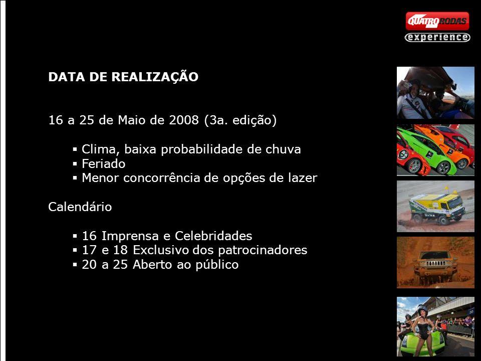 DATA DE REALIZAÇÃO 16 a 25 de Maio de 2008 (3a.