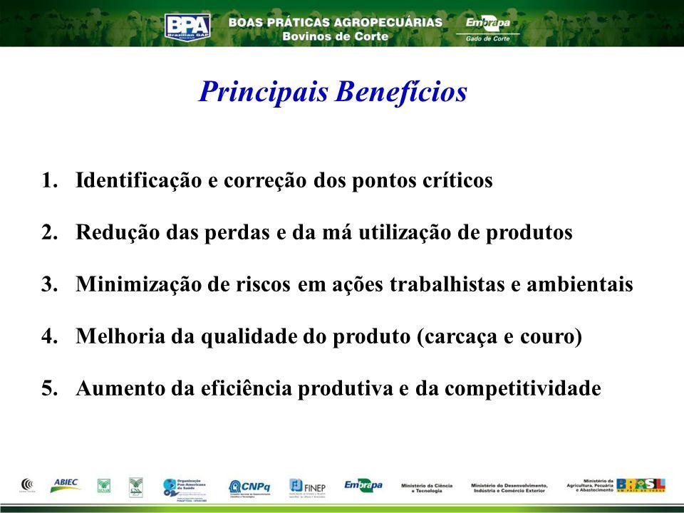 Principais Benefícios 1.Identificação e correção dos pontos críticos 2.Redução das perdas e da má utilização de produtos 3.Minimização de riscos em aç