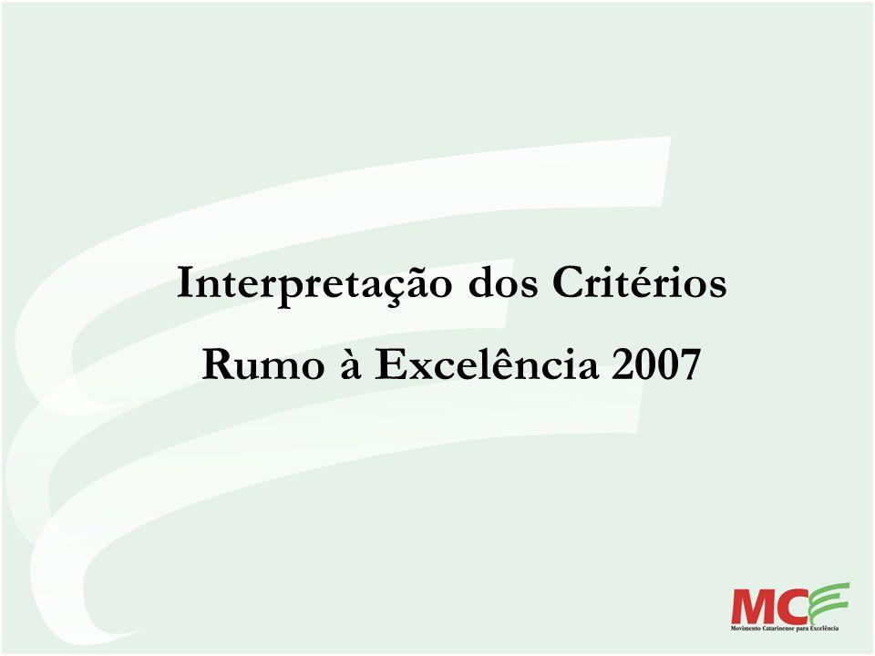 Interpretação dos Critérios Rumo à Excelência 2007