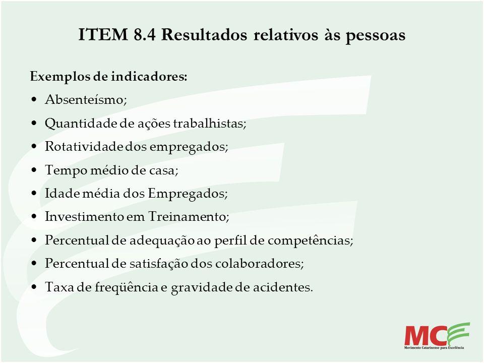 Exemplos de indicadores: Absenteísmo; Quantidade de ações trabalhistas; Rotatividade dos empregados; Tempo médio de casa; Idade média dos Empregados;