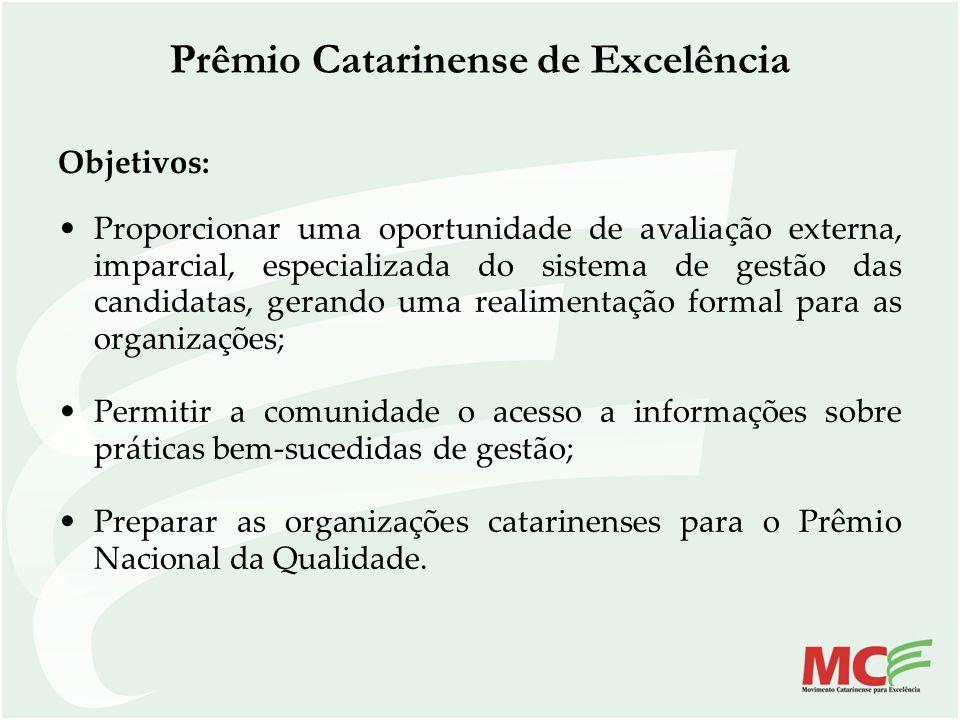 Objetivos: Proporcionar uma oportunidade de avaliação externa, imparcial, especializada do sistema de gestão das candidatas, gerando uma realimentação