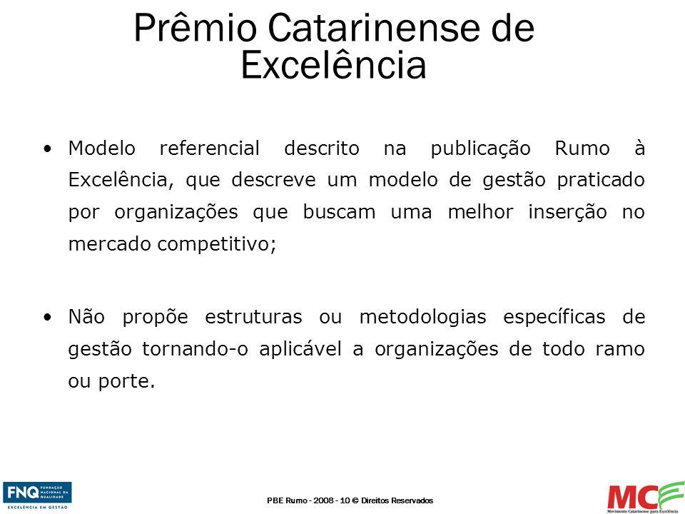 PBE Rumo - 2008 - 10 © Direitos Reservados Modelo referencial descrito na publicação Rumo à Excelência, que descreve um modelo de gestão praticado por