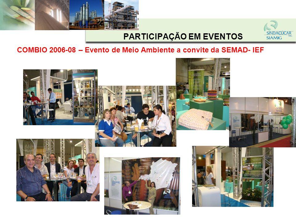 PARTICIPAÇÃO EM EVENTOS SUPERAGRO – 2005-2006 -2007-2008- Feira do Agronegócio a convite da Secretaria de Agricultura - FAEMG