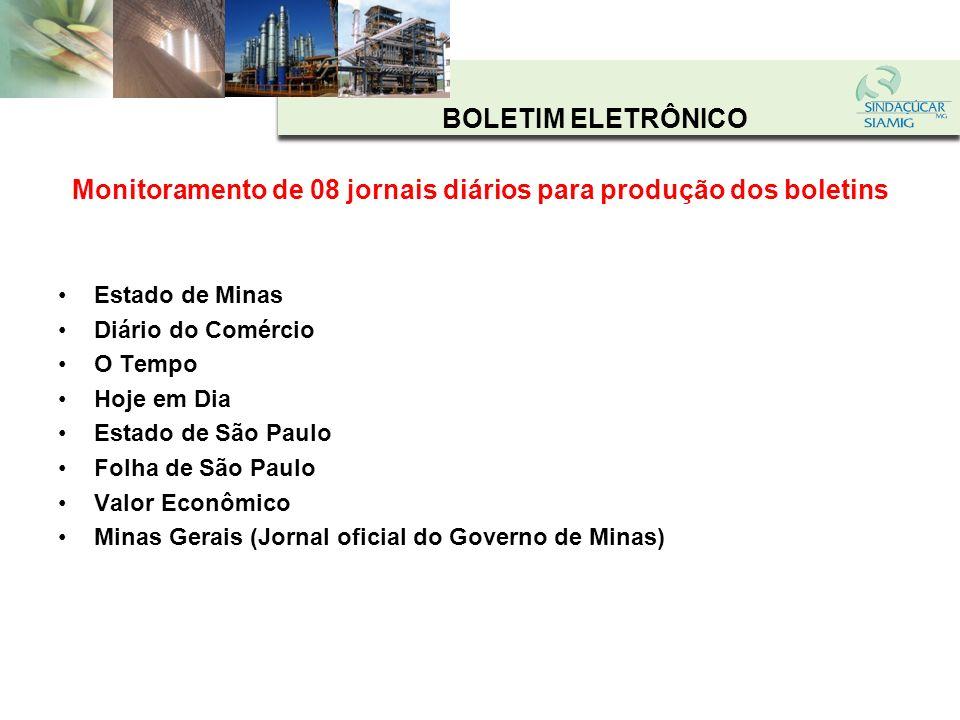 BOLETIM ELETRÔNICO Somam 335 edições do ONLINE INFORMA e 27 do DIÁRIO SIAMIG /SINDAÇÚCAR NO