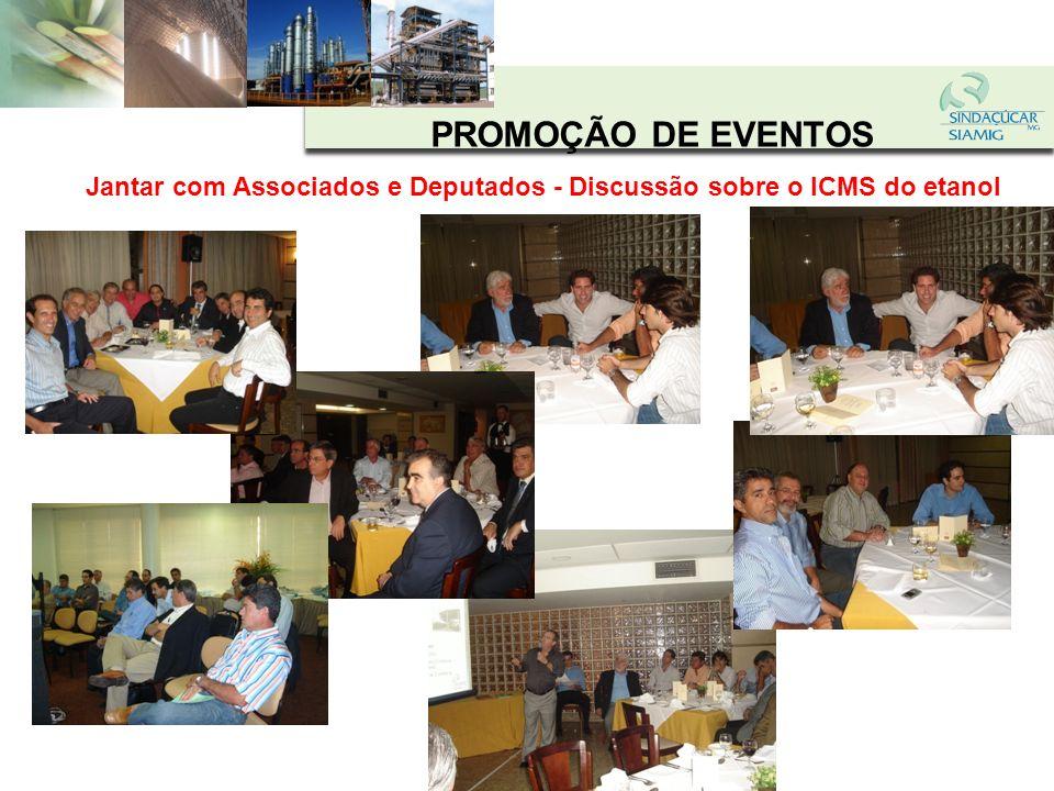 PROMOÇÃO DE EVENTOS Almoço com o Secretário de Desenvolvimento Econômico - Discussão sobre produção e comercialização de etanol em MG