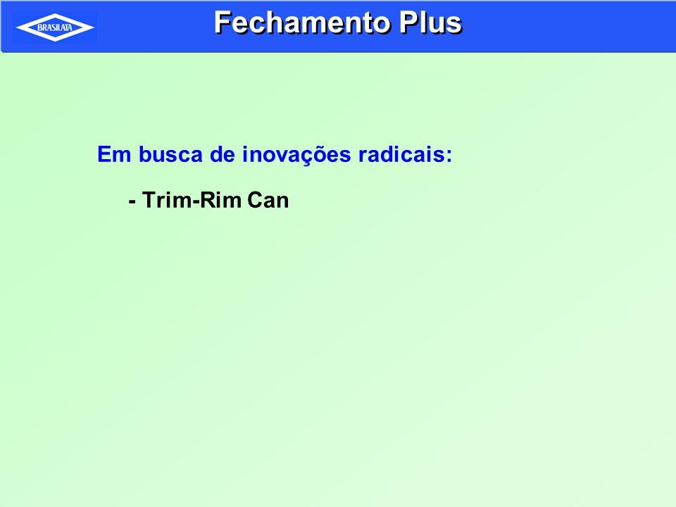 Em busca de inovações radicais: - Trim-Rim Can Fechamento Plus
