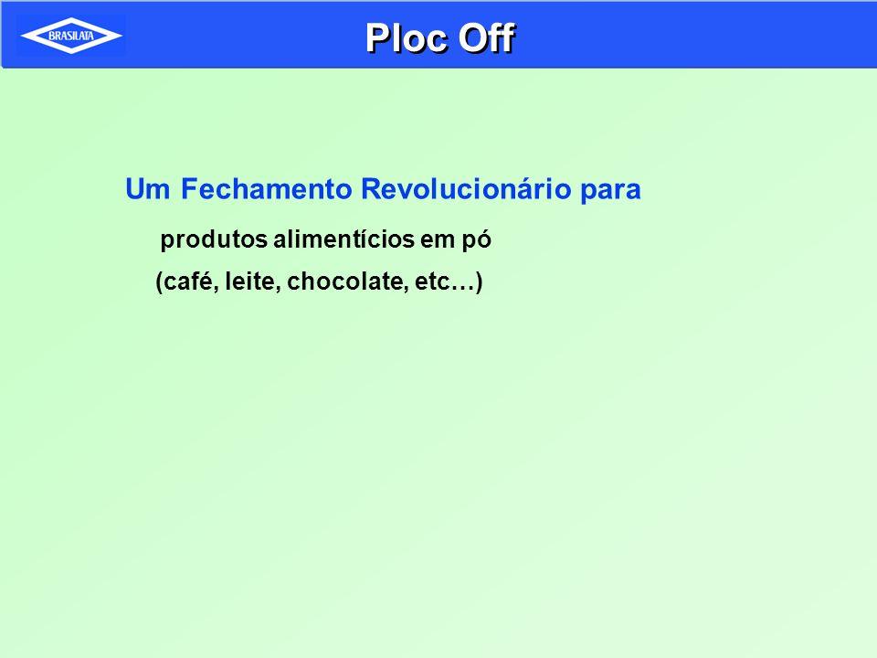 Ploc Off Um Fechamento Revolucionário para produtos alimentícios em pó (café, leite, chocolate, etc…)