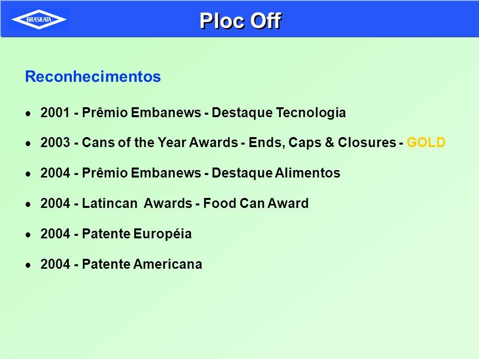 Reconhecimentos 2001 - Prêmio Embanews - Destaque Tecnologia 2003 - Cans of the Year Awards - Ends, Caps & Closures - GOLD 2004 - Prêmio Embanews - De