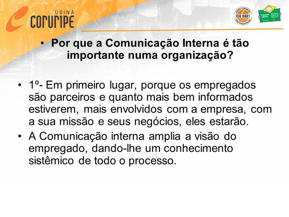 Por que a Comunicação Interna é tão importante numa organização.