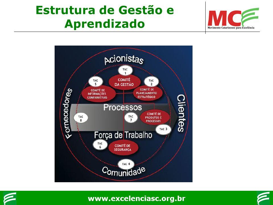 www.excelenciasc.org.br Estrutura de Gestão e Aprendizado
