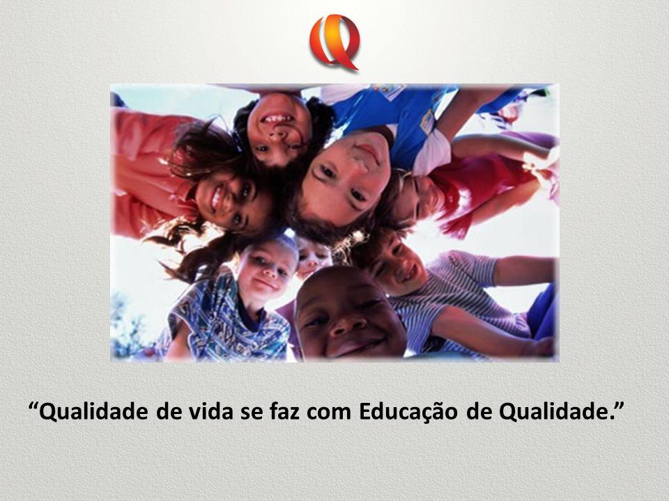 Qualidade de vida se faz com Educação de Qualidade.