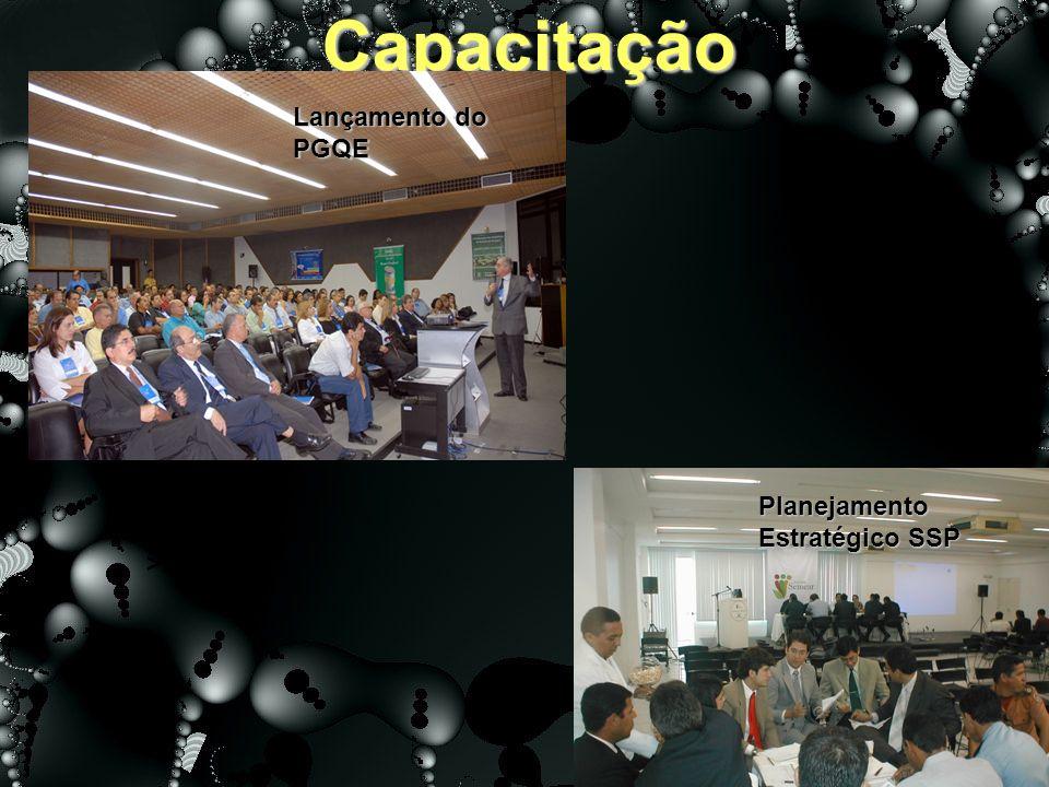 Capacitação >20<=50% 100% Lançamento do PGQE Planejamento Estratégico SSP
