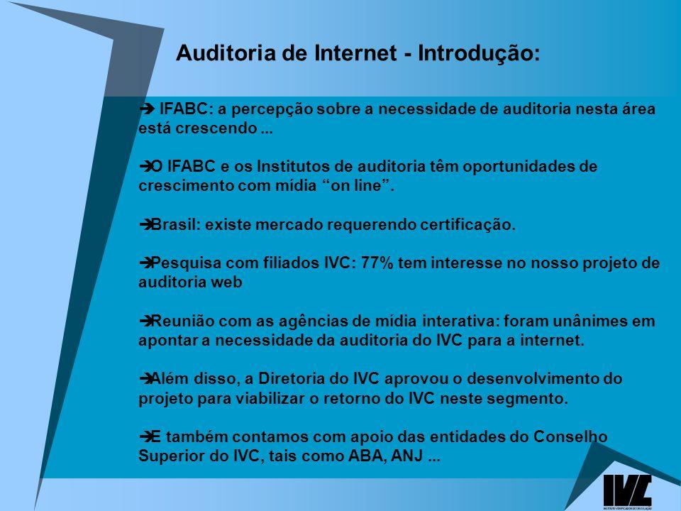 Auditoria de Internet - Introdução: IFABC: a percepção sobre a necessidade de auditoria nesta área está crescendo...