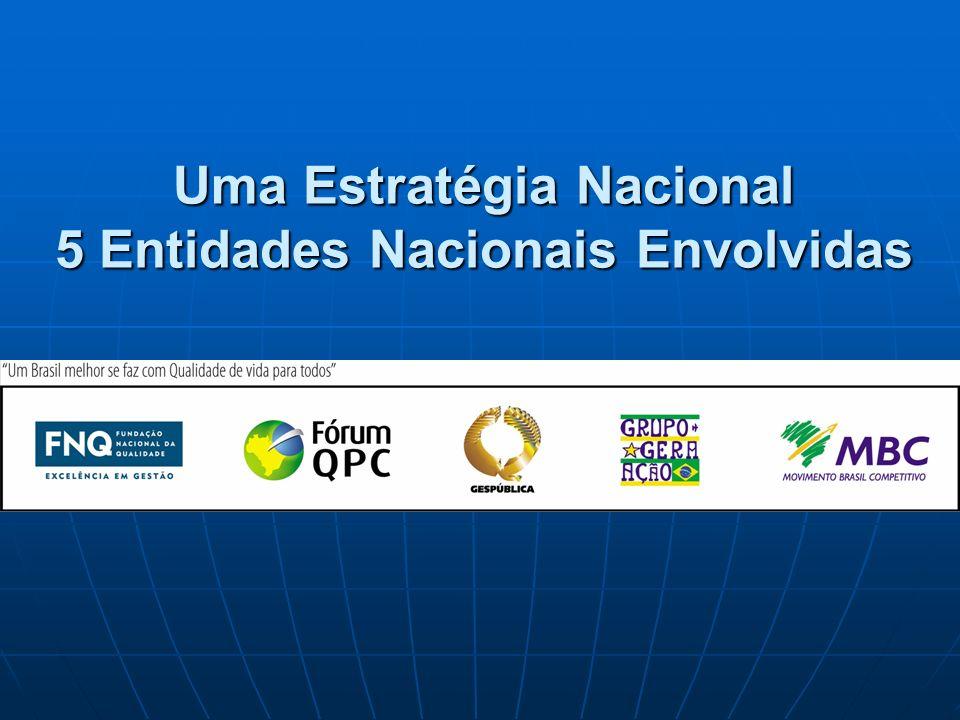Uma Estratégia Nacional 5 Entidades Nacionais Envolvidas