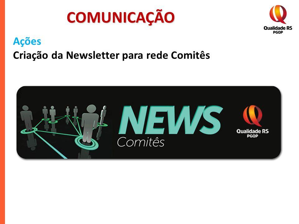 COMUNICAÇÃO Ações Criação da Newsletter para rede Comitês