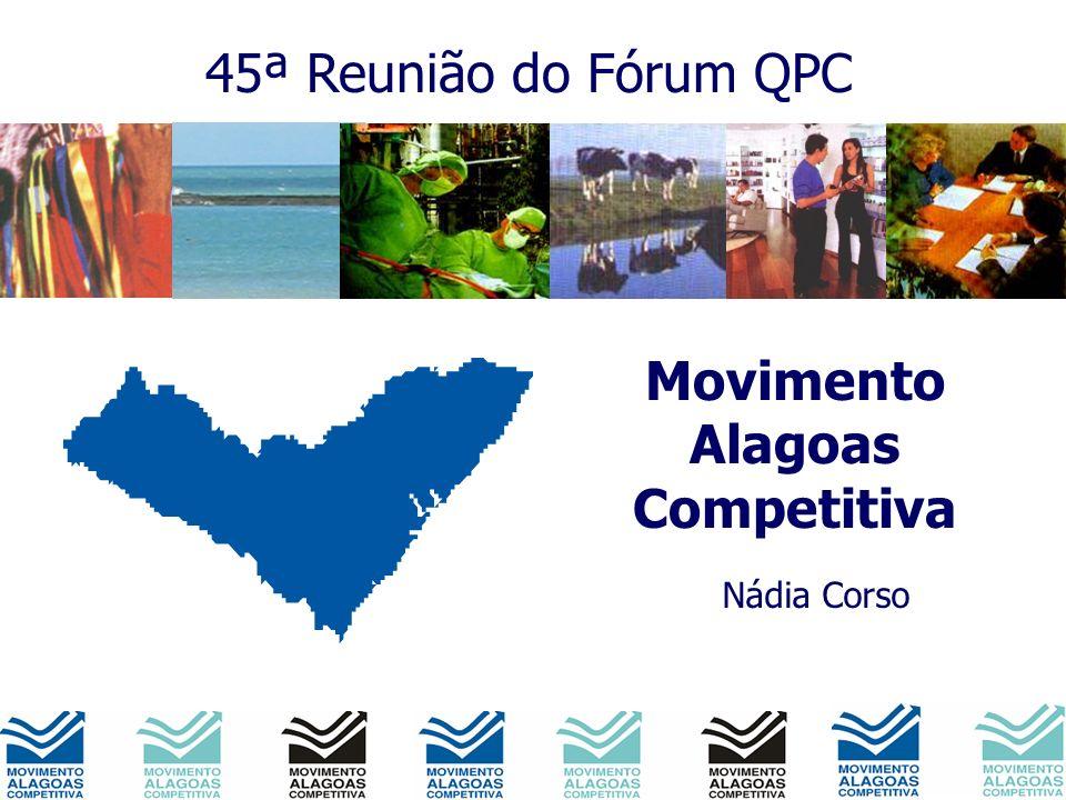 Movimento Alagoas Competitiva Nádia Corso 45ª Reunião do Fórum QPC