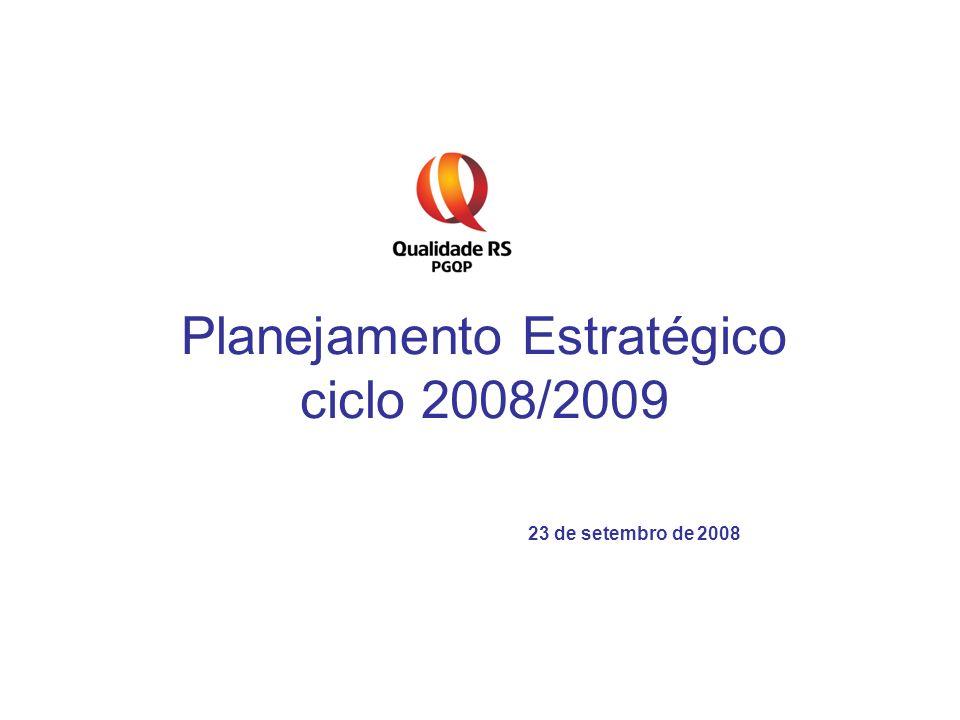 Planejamento Estratégico ciclo 2008/2009 23 de setembro de 2008