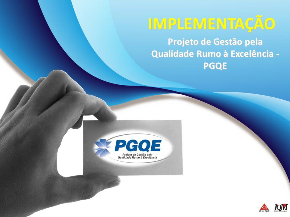 Projeto de Gestão pela Qualidade Rumo à Excelência - PGQE IMPLEMENTAÇÃO